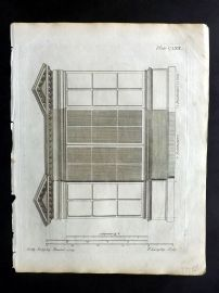 Langley 1777 Antique Architectural Print. Book Case 162.
